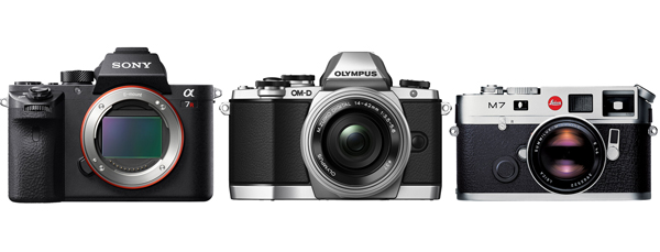 Frontale modelli mirrorless in comparativa